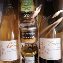 Vins blancs : doux et sec + grignotages apéro